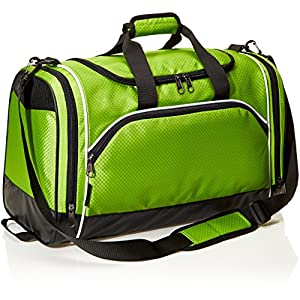AmazonBasics Sports Duffel - Medium, Hyper Green