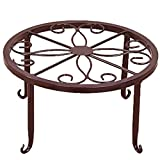 steellwingsf Plant Stand Floor Flower Pot Rack rund Eisen Home Garten Innen Balkon Decor