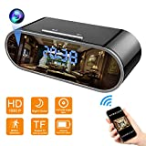 Wifi Hidden Clock Camera - Wireless Mini Spy Camera - Remote View - HD 1080P with 140 Degree Wide Angle Lens - Nanny Cam with Night Vision - Indoor Home Cameras - Real-time Monitoring