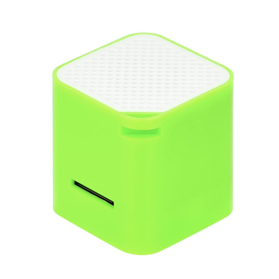 Taottao portatile mini altoparlanti stereo Bass Music player wireless supporto 8g TF speaker, Green
