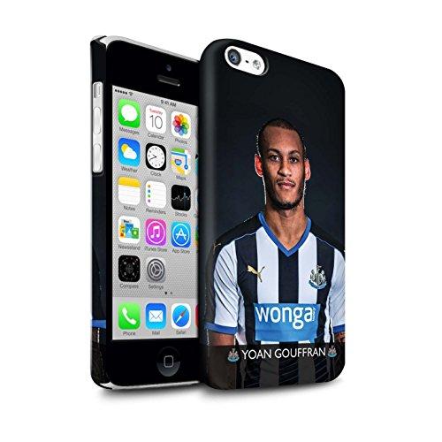 Officiel Newcastle United FC Coque / Clipser Matte Etui pour Apple iPhone 5C / Pack 25pcs Design / NUFC Joueur Football 15/16 Collection Gouffran