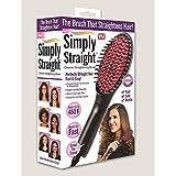 Simply Straight Ceramic Straightening Brush - (Hair Straightener, Curler And Styler - MutliColor) S4d