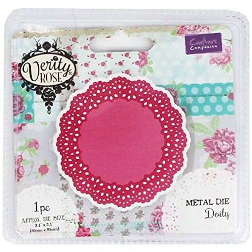 Crafters Companion Verity Rose Thin Metal Die - Doily (Rose Doily)