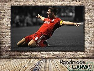 Steven Gerrard LFC Football Sport Handmade Canvas Art Print Framed Ready To Hang