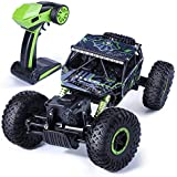 JRPT Remote Controlled Rock Crawler RC Monster Truck, 4 Wheel Drive, 1:18 Scale (Multicolor) (Green)