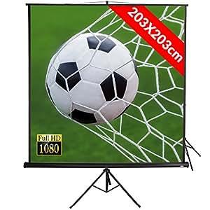 """Jago - Écran de Projection Manuel 203 x 203 cm 113"""" Vidéoprojecteur HD TV Home Cinéma 1:1 4:3 16:9 (Modèle au Choix)"""