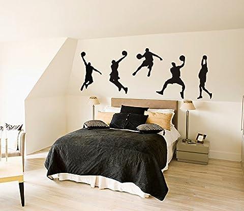 """Wandsticker K¨¹che Wandbilder Wandfiguren23,6""""x 39,4"""" Wall Art Basketball NBA-Star Spieler Grafik Wandtattoo Wandbild WaWandsticker Deko f¨¹rs Kinderzimmer"""