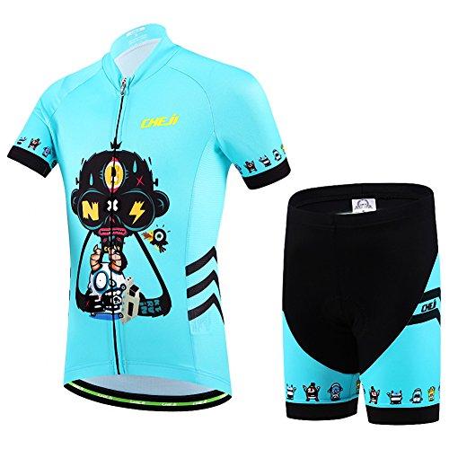 Ateid Maillot Ciclismo Pantalones Cortos Niños Azul