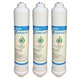 3 x Aqua Quality Under Sink Replacement in Line Water Filters