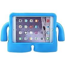 Y&M (TM) - Carcasa para iPad Mini 1, 2, 3 y 4 para niños, goma EVA, a prueba de caídas y golpes, agarre suave, función atril, convertible