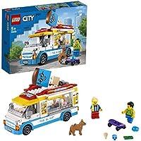 LEGO60253CityGreatVehiclesIce-CreamTruckToywithSkaterandDogFigure forKids5+YearOld