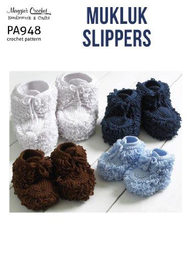 Crochet Pattern Mukluk Slippers PA948-R (English Edition) - Mukluks Mukluk