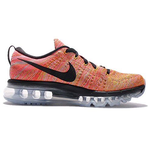 Nike Flyknit Air Max, Herren Laufschuhe Training Aluminium/black / Hot Punch