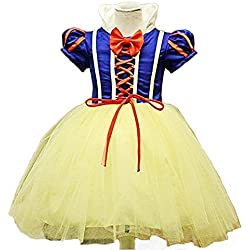 Disfraz de blancanieves para niña, Carnaval, Halloween, vestido de fiesta, traje de Cosplay