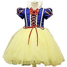 Disfraz de blancanieves para niña, Carnaval, Halloween, vestido de fiesta, traje de