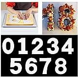 Maygone moule à cake en forme de nombre de 0–9, Moules à gâteaux Outil pour couches de glaçage, Crème, Fruits, Décoration de