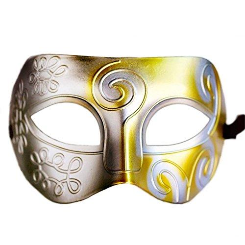 Lace Maske venezianischen Maske Halbgesichtsmaske der Retro- Männer COS-Ball Halloween-Partei maskieren antiken Stil, K3 ()