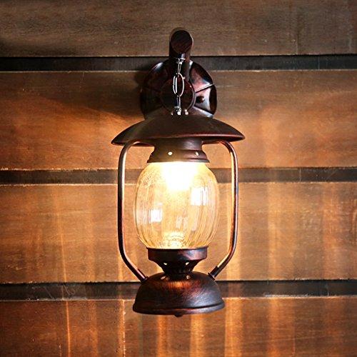 HOHE SHOP/Kérosène Lampe Antique Lanterne Creative Café Aisle Balcon Loft Fer Applique