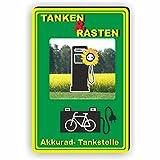 TANKEN UND RASTEN / E-RAD Tankstelle / Ladestation - SCHILD / D-073 (20x30cm Schild)
