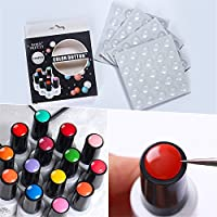 Born Pretty 100Pcs Nail Art Silicone Adhesive Paster Transparent Colorful Button UV Gel Polish Display Tool for Manicure