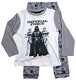 Star Wars Pyjama Kollektion 2017 Schlafanzug 116 122 128 134 140 146 152 Lang Schlafanzug Sturmtruppler Stormtrooper Kylo Ren Schwarz (Weiß-Grau, 140-146)