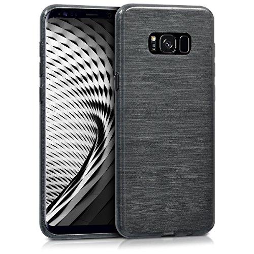 kwmobile Samsung Galaxy S8 Plus Hülle - Handyhülle für Samsung Galaxy S8 Plus - Handy Case in Anthrazit Transparent