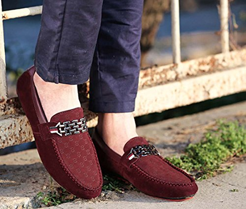 Sneakers Autumn Fashion Men Shoes Zapatos Casual Transpirable Hombres Trend Lazy Male Lazy Shoes Red