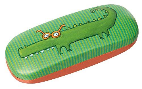 Sigikid Mädchen und Jungen, Brillenetui Krokodil, Grün/Orange, 24846