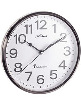 ATLANTA Funkwanduhr Küchenuhr Funkgesteuert 26 cm Grau - 4378-4