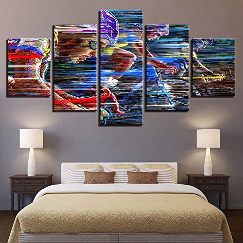 adgkitb canvas Hd Moderne Drucke Dekoration Motorradfahrer Leinwand Poster Pop Malerei Modulare Wandkunst Rahmen Hause Schönheitssalon -
