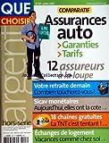 QUE CHOISIR du 01/07/2007 - COMPARATIF - ASSURANCES AUTO - VOTRE RETRAITE DEMAIN - SICAV MONETAIRES - 18 CHAINES GRATUITES - ECHANGES DE LOGEMENT...