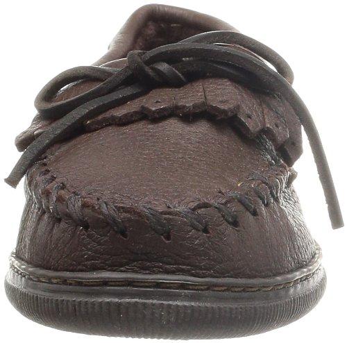 Minnetonka Damen Moosehide Fringed Kilty 392 Mokassin Braun (Chocolate)