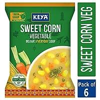 Keya Instant Soup Sweet Corn Veg, Serves 4,Pack of 6,288Grams(48 x 6 = 284)