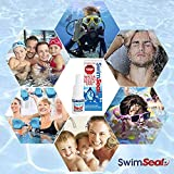 SwimSeal ear drops for protection against trapped water! replaces earplugs - ideal for swimming, scuba diving, surfing and triathlons.  For all ages and kids over 6 months