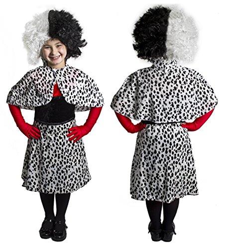 (ILOVEFANCYDRESS Dalmatiner Kinder VERKLEIDUNG KOSTÜM Film VERKLEIDUNG =Fasching-Karneval-BUCHWOCHE+Film-FERNSEHN = 4 VERSCHIEDENEN GRÖSSEN =Dalmatiner Onsie +ROSA HALBAND= Large)