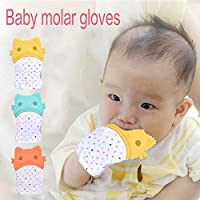 Baby Cartoon Cat Silicone Teether Baby Molar Teether Gloves Bite-proof Toys