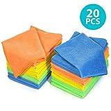MASTERTOP - Confezione da 20 Panni in Microfibra per la Pulizia della Polvere e della Polvere, in 4 Colori, Multifunzione, per Cucina e Auto