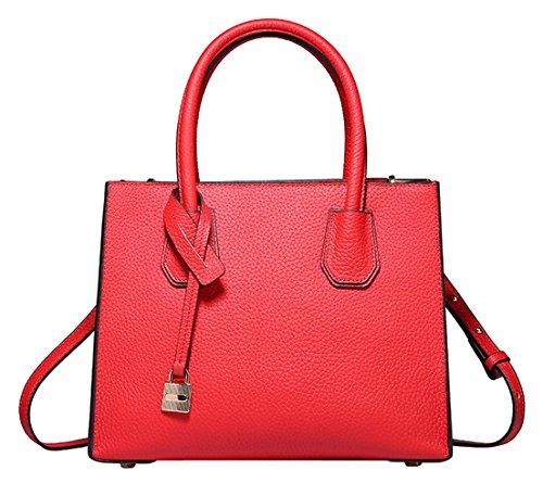 SAIERLONG Nuovo Donna Rosso Pelle Bovina Genuina Borse Tracolle Rosso