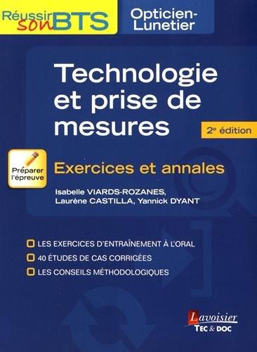 Technologie et prise de mesures : Exercices et annales