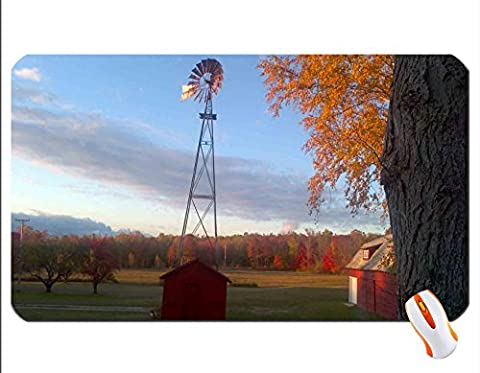 A View of the Farm wallpaper mouse pad super big mousepad Dimensions: 23.6 x 13.8 x