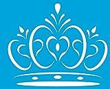 21cm x 17cm Stencil di Plastica per Decorazione Parete Muro Tessuto Maglietta Aerografo Progettazione Disegno Grafica - Principessa Principe Regina Corona