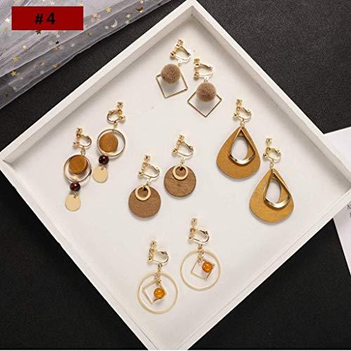 LYNNIE Damen Ohrringe Keine Ohrlöcher Kein Piercing, Aluminiumlegierung Baumeln Ohrclip, Fünf Sätze,D