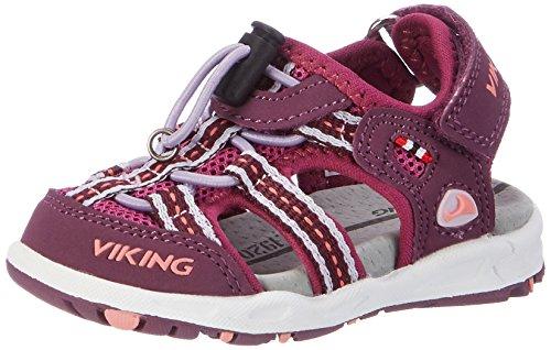 Viking Unisex-Kinder Thrill Geschlossene Sandalen, Pink (Plum/Dark Pink 6239), 30 EU