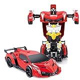 Brigamo 3667 - Transform Troopers 2,4 Ghz Ferngesteuertes Auto verwandelt Sich per Fernbedienung in Einen Roboter ( Rot, Grün Farbauswahl je Nach Verfügbarkeit)
