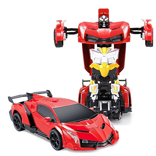 form Troopers 2,4 Ghz Ferngesteuertes Auto verwandelt Sich per Fernbedienung in einen Roboter ( rot, grün Farbauswahl je nach Verfügbarkeit) ()