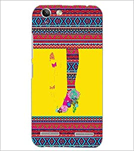 PrintDhaba Tribal Pattern D-4169 Back Case Cover for LENOVO LEMON 3 (Multi-Coloured)