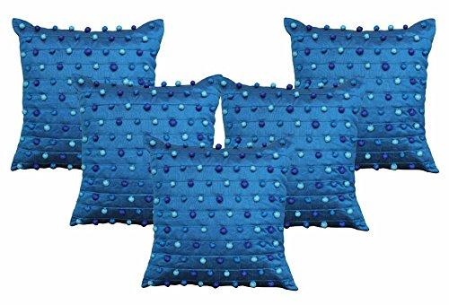 Dekor World PomPom Cushion Cover(Pack Of )