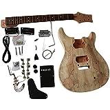 gd830 acajou Voûte haut corps avec échaufféérable PLACAGE AVEC blanc reliure sur Corps guitare électrique à bricoler soi-même Kit pour Student and luthier projets