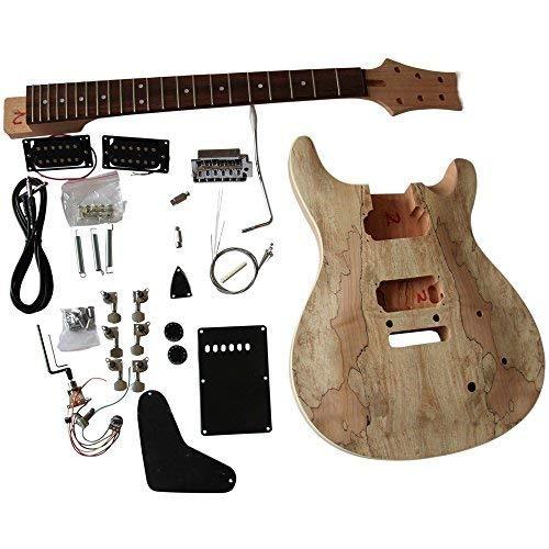gd830 Caoba Cuerpo Con Spalted Arce Chapa Top Guitarra Eléctrica Kit Construcción Set