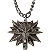 Witcher 3 Medaillon mit Kette Wild Hunt Logo Metall